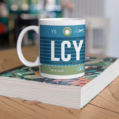 LCY - London City Airport Ceramic Mug 11OZ