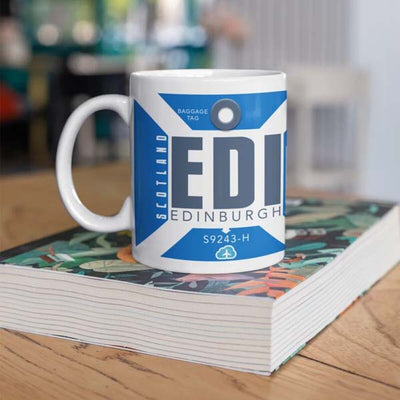 EDI - Edinburgh Airport Ceramic Mug 11OZ