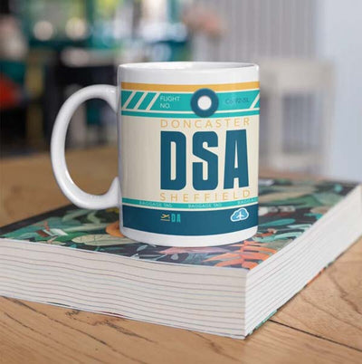 DSA - Doncaster Sheffield Airport Ceramic Mug 11OZ