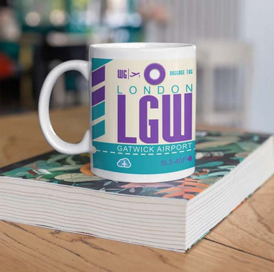 LGW - London Gatwick Airport Ceramic Mug 11OZ