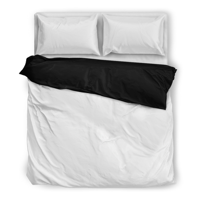 Black Flying Icons Luxury Bedding Sets