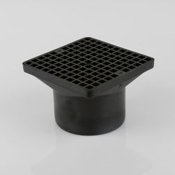 Underground 110mm Hopper & Grid (for back inlet bottle gully)