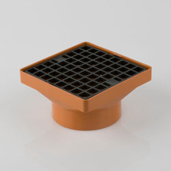 Underground 110mm Square Hopper With Solv Socket 160mm x 160mm