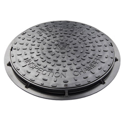 Underground 450mm Inspection Chamber Round Manhole Cover & Frame (Driveway)