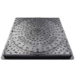 Underground 450mm Inspection Chamber Square Manhole Cover & Frame (Driveway)