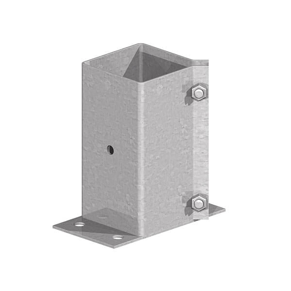 Kwik/Fencemate Surface Mount 75mm Flush Fit