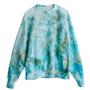 The Ice-Dye Sweatshirt in a Color We Call Green Juice