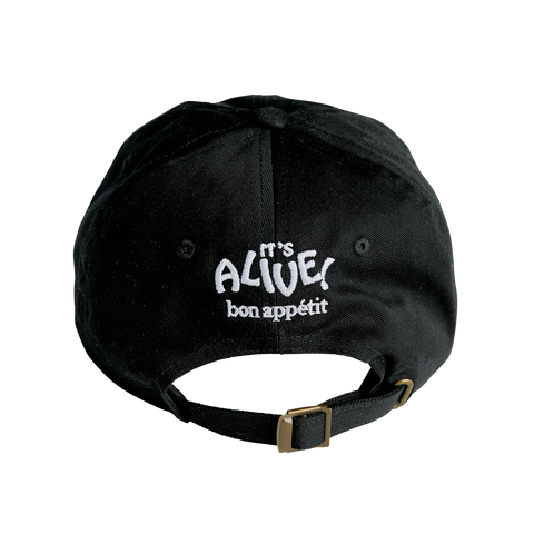 The Black Garlic Fan Hat- back