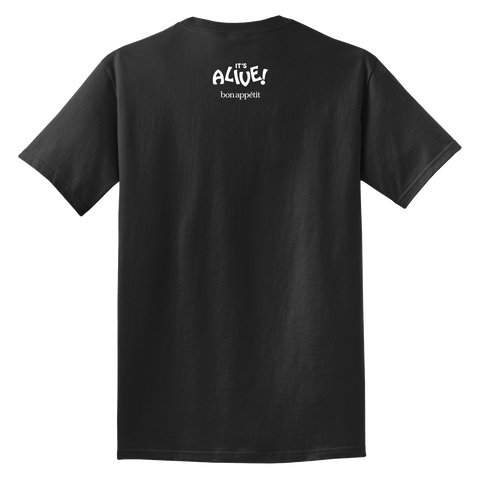 The Black Garlic Fan Shirt- back
