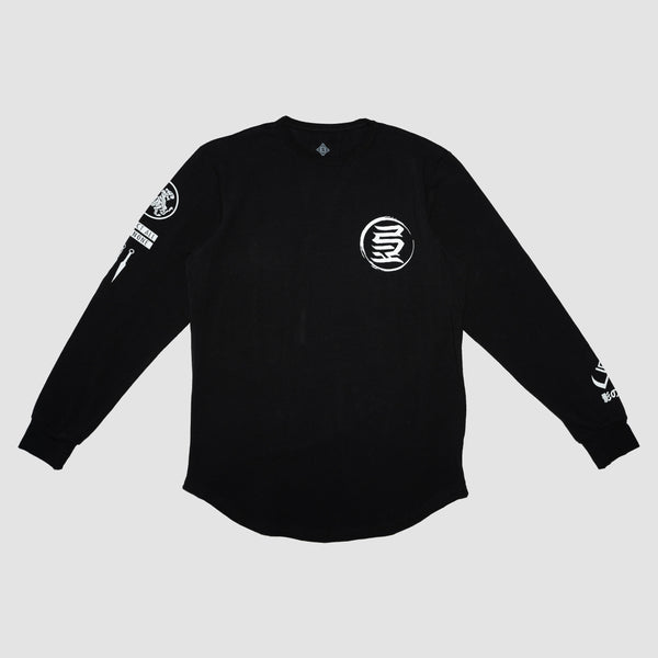 KREST LONG SLEEVE TEE (BLACK)