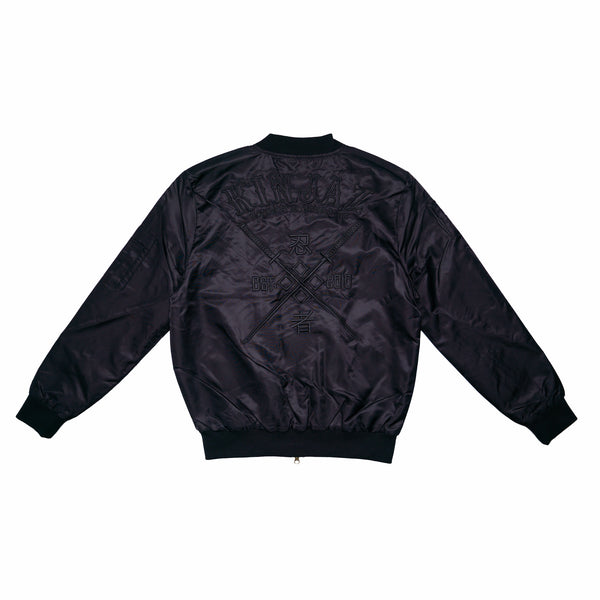 Stealth Bomber Jacket (Black on Black)