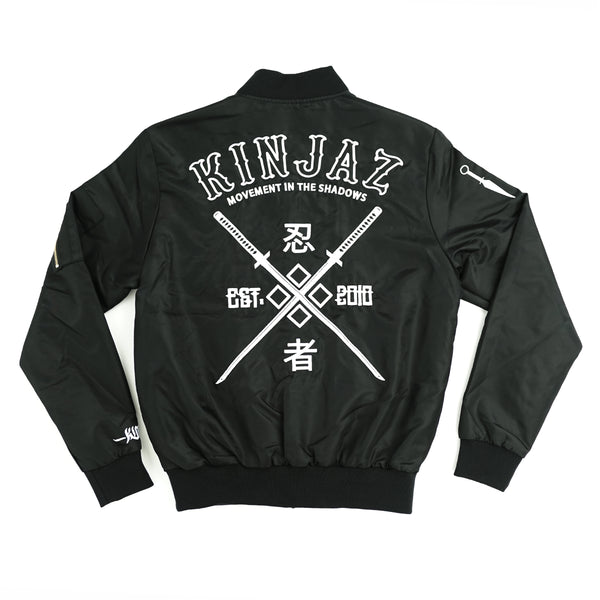 SHADOW Bomber Jacket (Black/White)