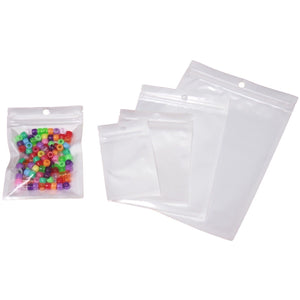White & Clear Ziplock Mylar Resealable Plastic Bags 6cm to 20cm
