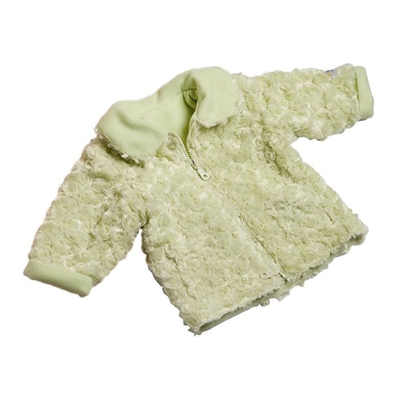 Oh So Soft Baby Jacket Green 0-12 Months Fleece