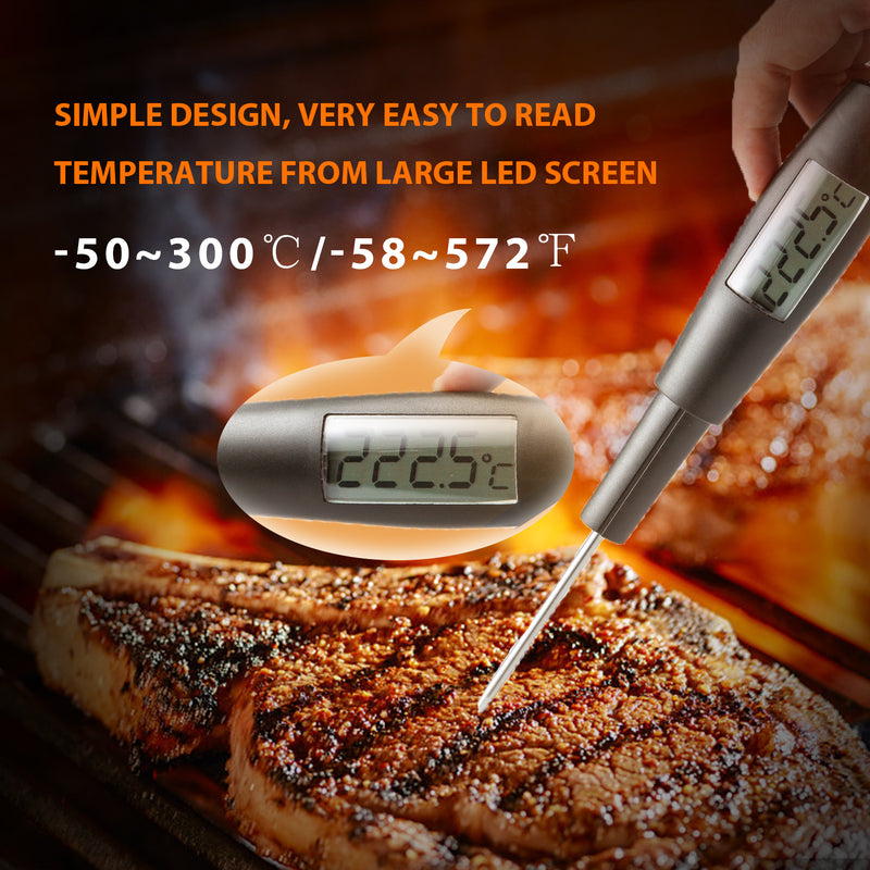 ORIENTOOLS Candy Thermometer, Digital Spatula Thermometer with Food Grade Silicone Spatula Stirring Attachment, for Chocolate Jams Food Cooking Baking BBQ, FDA, ROHS