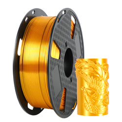 ORIENTOOLS PLA Silk 3D Printer Filament 1.75mm, Dimensional Accuracy +/- 0.05 mm, 1kg Spool (2.2lbs), Golden, Fit Most FDM Printer