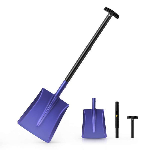 Snow Shovel with Aluminum Blade, Suitable for Car or Truck Storage #HT240