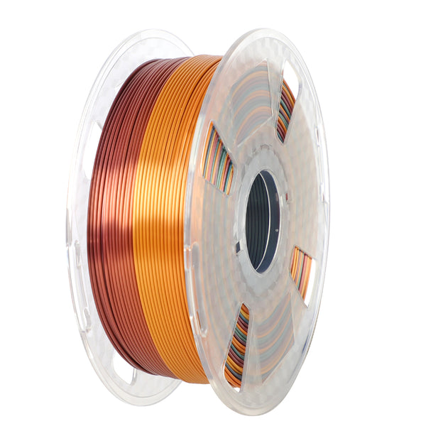 ORIENTOOLS PLA Silk 3D Printer Filament 1.75mm, Rainbow Multi Color Gradient, Dimensional Accuracy +/- 0.05 mm, 1kg Spool (2.2lbs), Fit Most FDM Printer