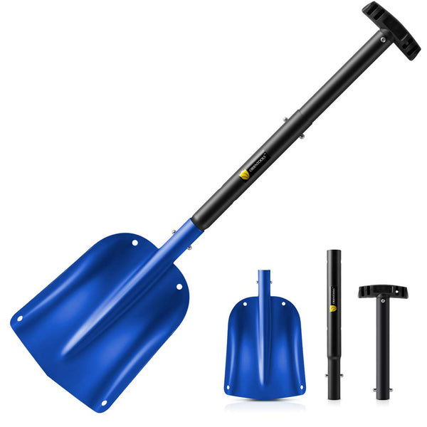 Snow Shovel with 3 Piece Collapsible Design #H220 UPC 743447976650