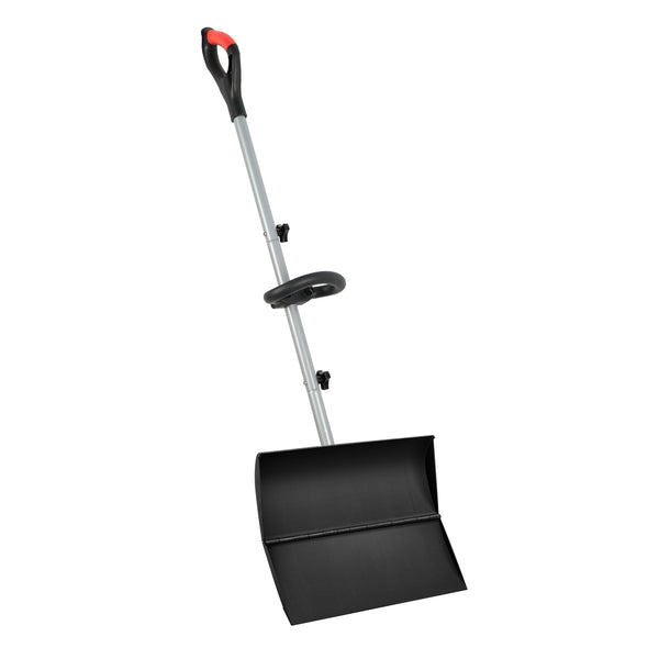 "ORIENTOOLS Snow Shovel with Ergonomic Handle Grips, Easier Installation, Strain-Reducing Pusher Perfect for Shoveling or Pushing Snow, Soils and Grains. (20"" Blade)"
