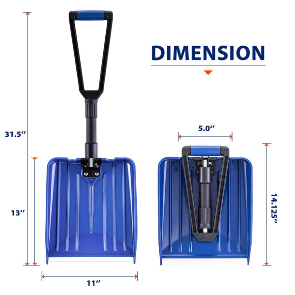 "Collapsible Snow Shovel with D-Grip Handle (Blade 11"")"