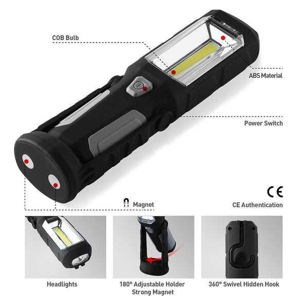 3 Lighting Modes COB Magnetic Work Light