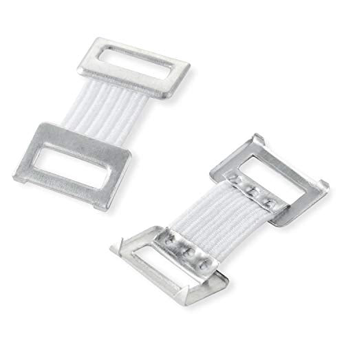 Metal Elastic Bandage Clips, White (50 Clips)