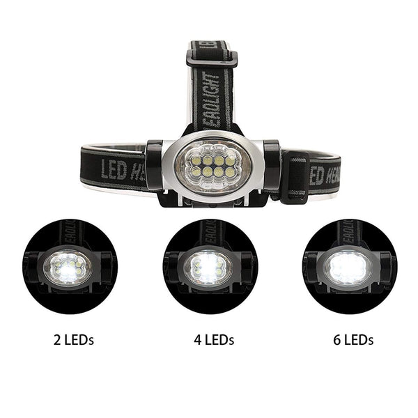 4 Modes LED Headlamp Battery Powered(3-Pack)