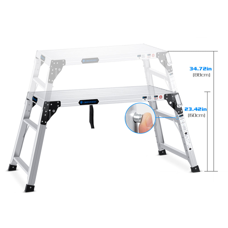 Portable Folding Aluminum Step Ladder
