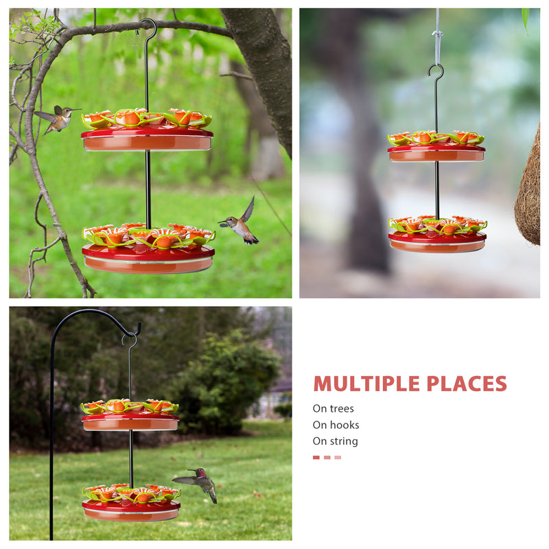 Hanging Hummingbirds Feeder with 24 Feeding Ports, Update