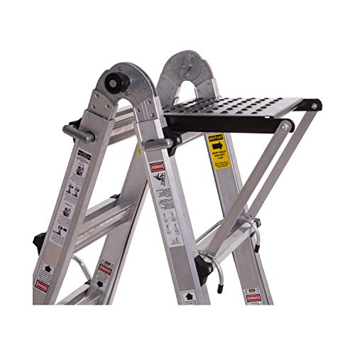 Ladder Work Platform, Ladder Accessory with 375-Pound Rated