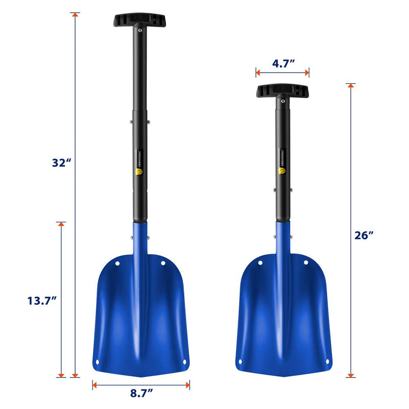 Snow Shovel with 3 Piece Collapsible Design #H220