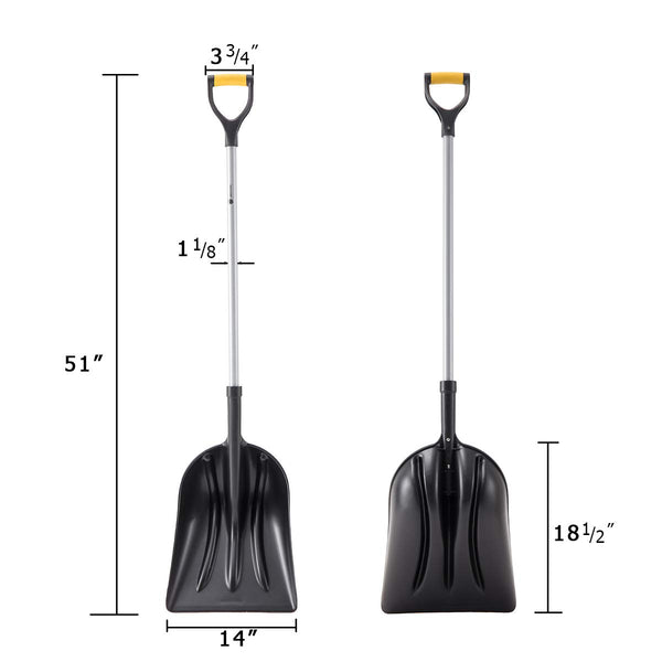 Snow Shovel Steel Handle Plastic Blade #12HDD