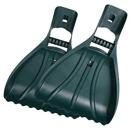Large Leaf Scoops Hand Held Rakes with Ergonomic Grabber Claws
