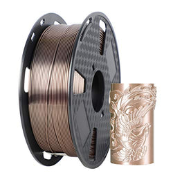 ORIENTOOLS PLA Silk 3D Printer Filament 1.75mm, Dimensional Accuracy +/- 0.05 mm, 1kg Spool (2.2lbs), Fit Most FDM Printer
