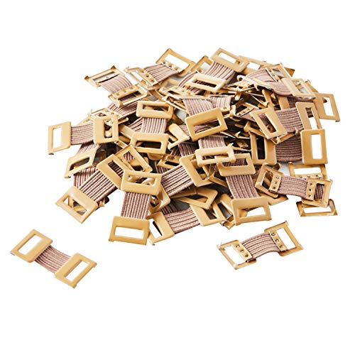 Metal Elastic Bandage Clips, Brown (50 Clips)