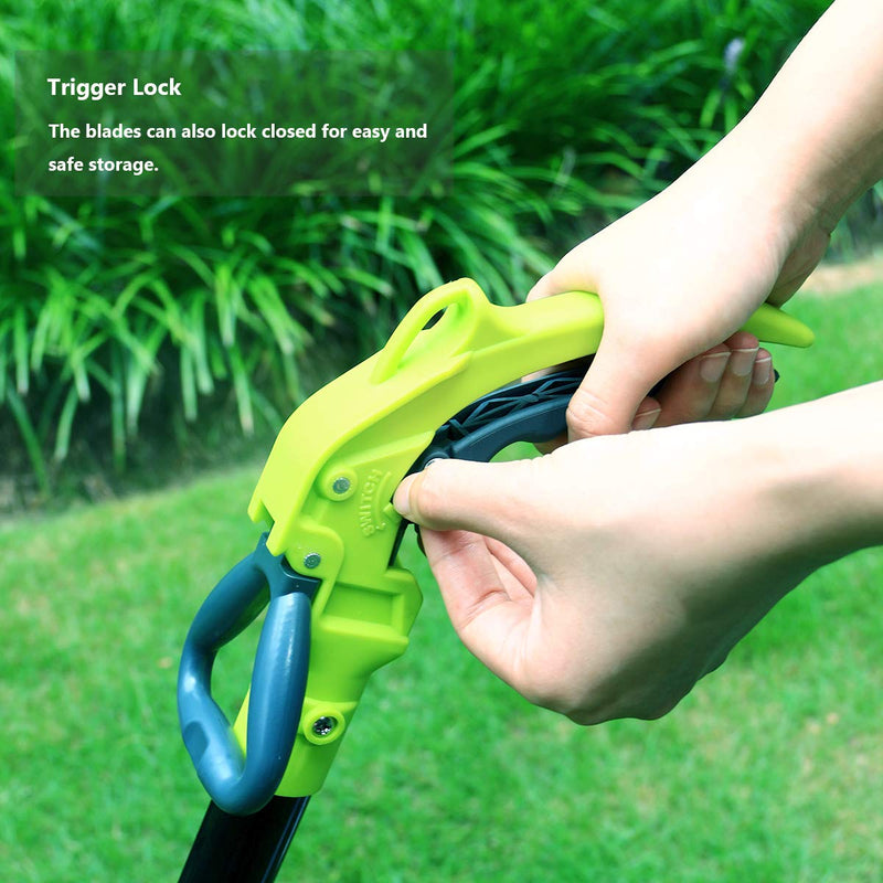 Swivel Grass Shears with 37-Inch Aluminum Long-Handle