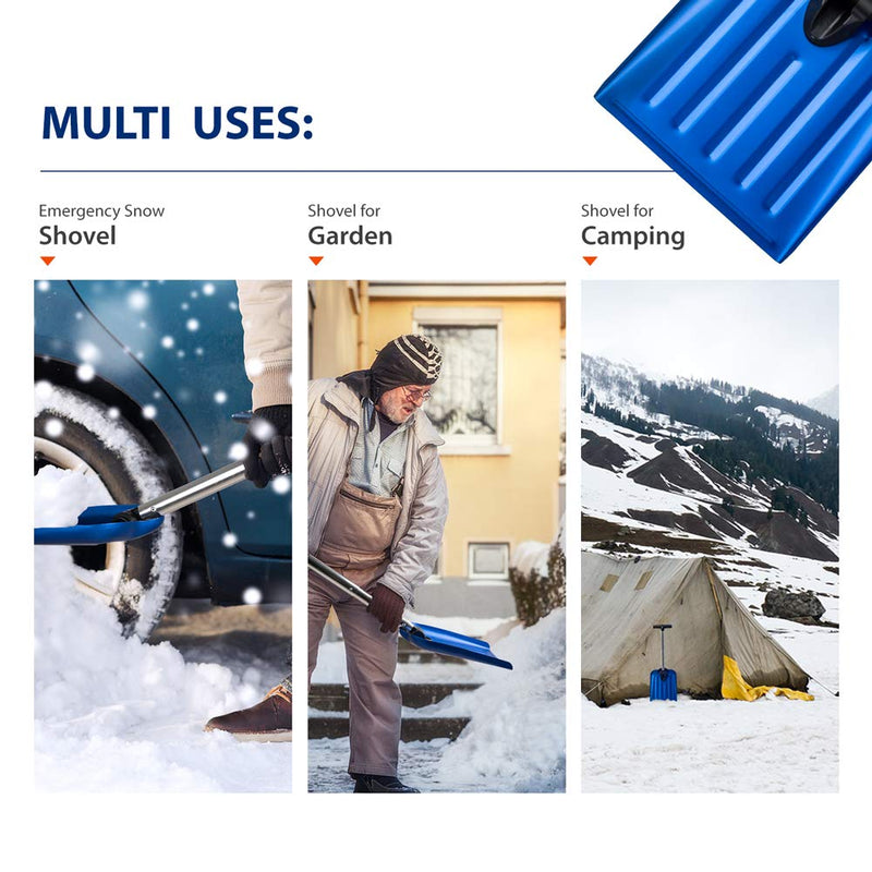Emergency Snow Shovel Suitable for Car or Truck Storage  UPC 743447976957