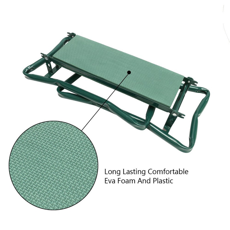 Foldable Garden Kneeler Seat with Kneeling Pad for Gardening