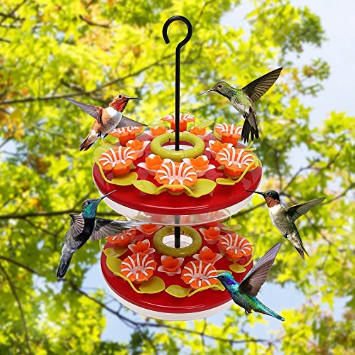 Hanging Hummingbirds Feeder with 24 Feeding Ports