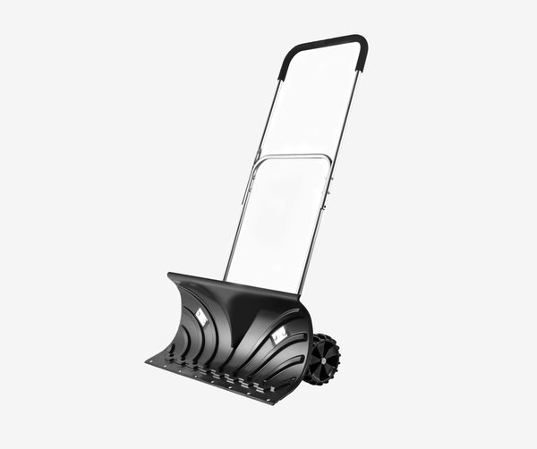 "Heavy Duty Snow Shovel, Rolling Adjustable Snow Pusher with 6"" Wheels #H660 UPC743447976612"