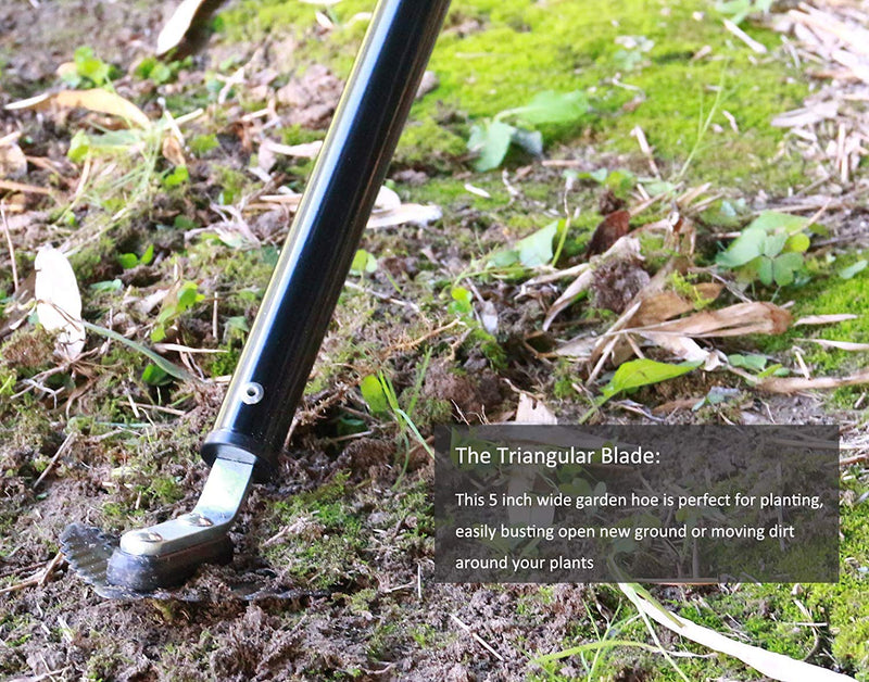 Winged Weeder with Telescoping Handle, Garden Warren Hoe with Large Blade