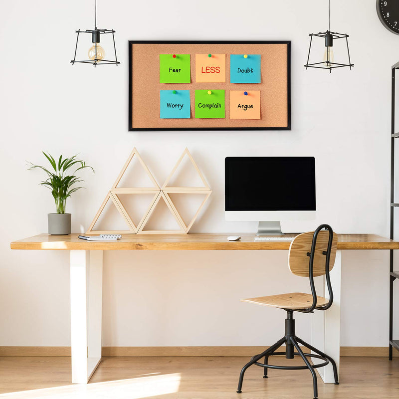Cork Board with 10 Color Pins (24*18 Inches)