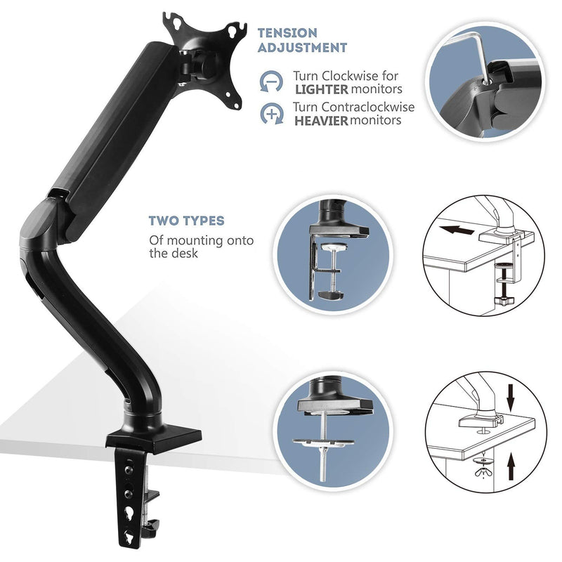 "Desk Mount Stand for 10""-32"" Computer Monitor"
