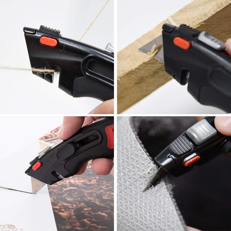 Heavy Duty Auto Retractable Utility Knife (3 Blades)