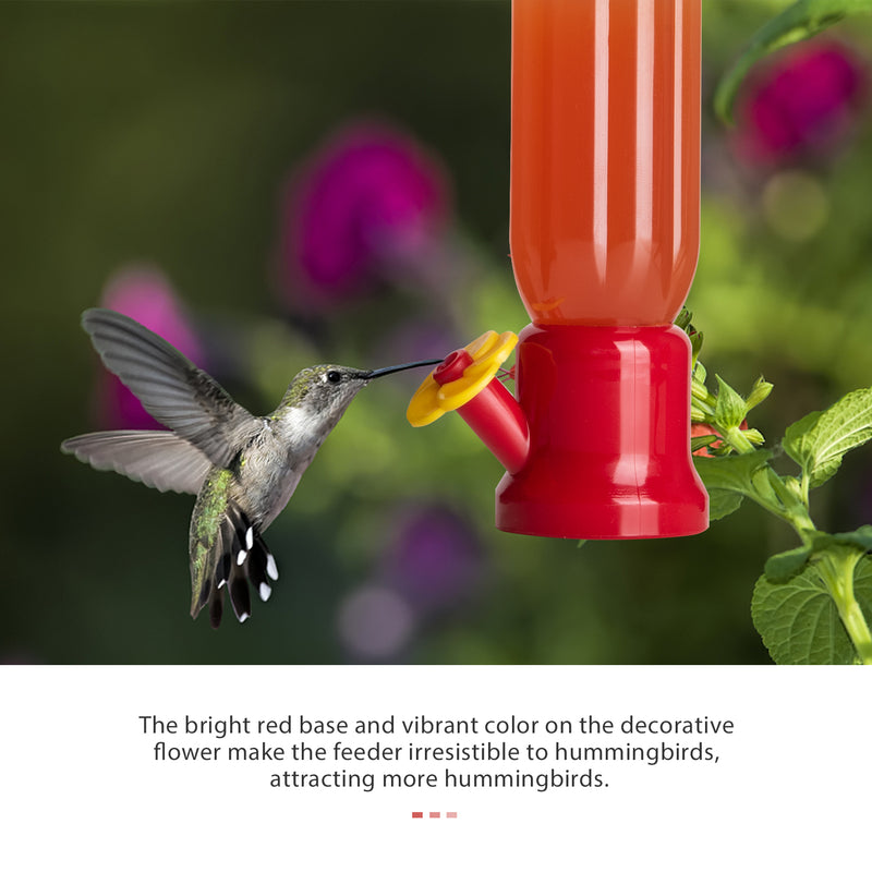 Mini Hummingbird Feeder with Window Mount Suction Cup, 2-Pack