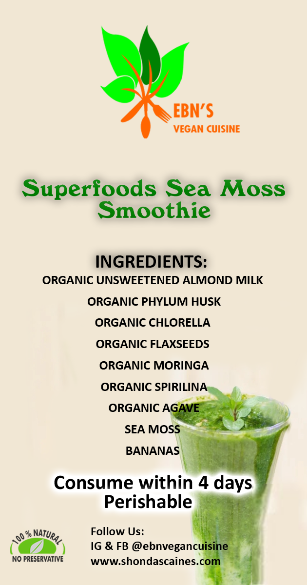 Superfoods Sea Moss Smoothie