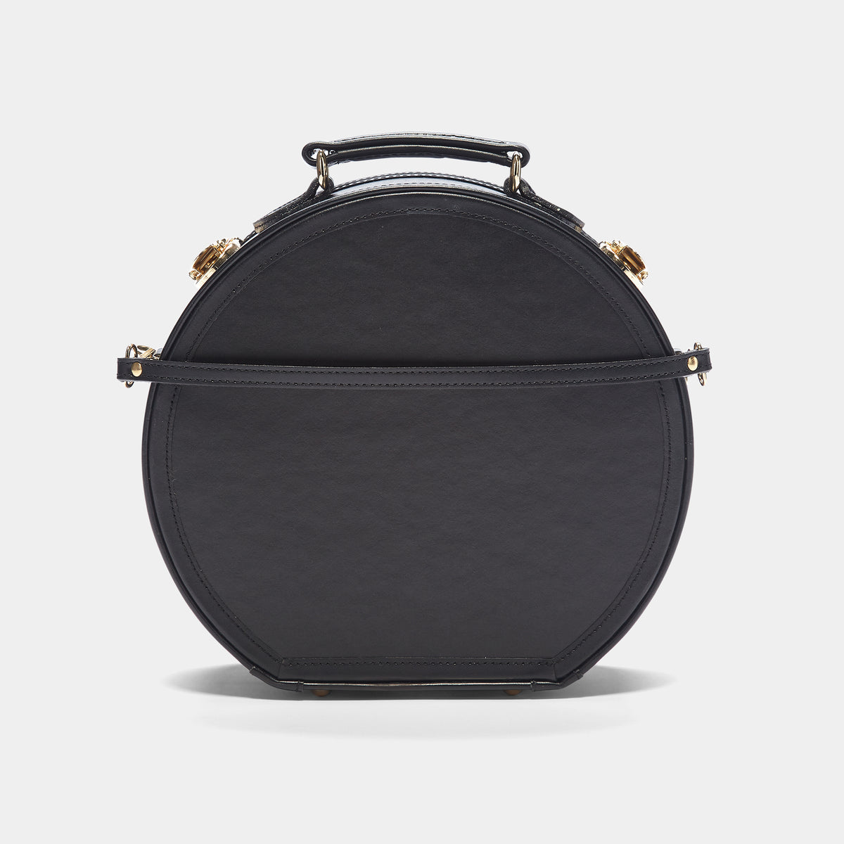 The alice + olivia X SteamLine in Black - Hat Box Luggage - Exterior Back