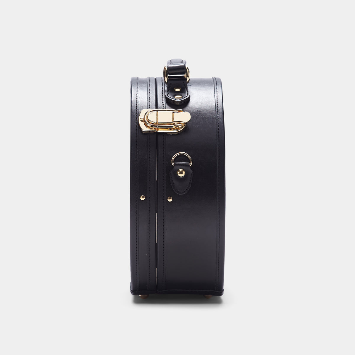 The alice + olivia X SteamLine in Black - Hat Box Luggage - Exterior Side