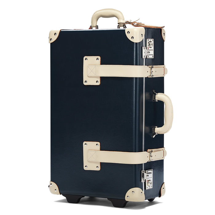 The Anthropologist Stowaway in Navy - Vintage Style Leather Case - Exterior Front